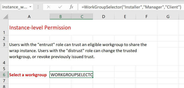 Screenshot of a WordGroupSelector function call