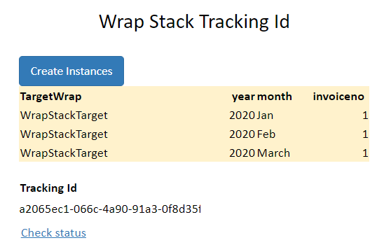 Screenshot of a WrapStack widget displaying the job id