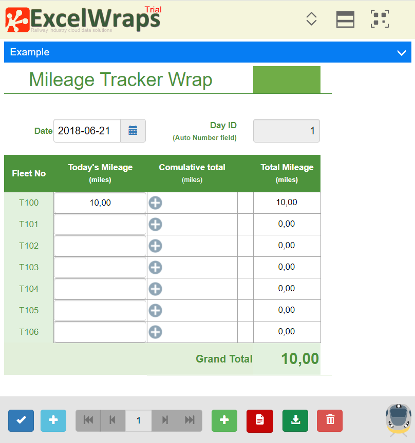 Screenshot of a wrap as it appears to the user